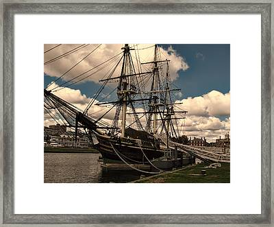 Friendship Of Salem Framed Print by Lourry Legarde