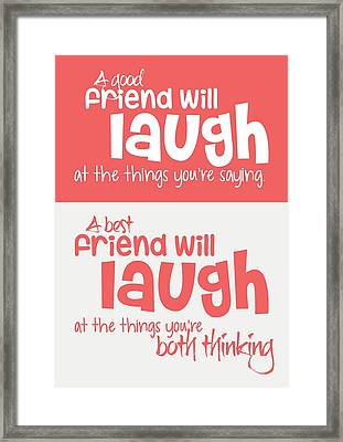 Friendship Typography Print Poster Framed Print by Lab No 4 - The Quotography Department