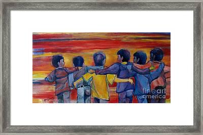 Friendship Walk - Children Framed Print