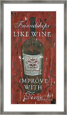 Friendships Like Wine Framed Print