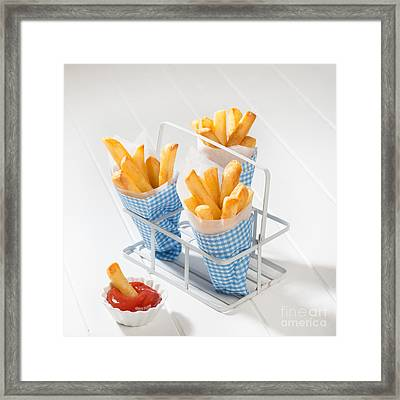 Fries Framed Print by Amanda Elwell