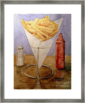 Fries For Lunch Framed Print