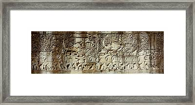 Frieze, Angkor Wat, Cambodia Framed Print by Panoramic Images