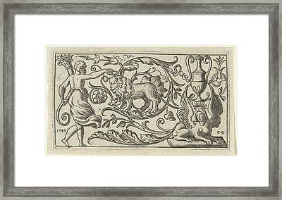 Frieze With Lion, Anonymous Framed Print by Anonymous