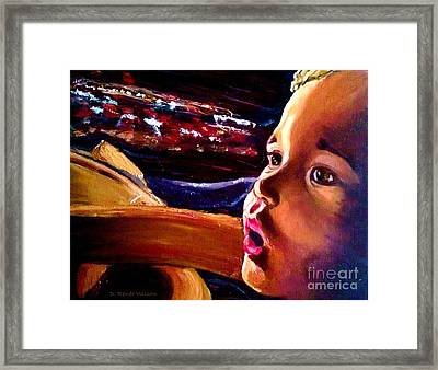 Framed Print featuring the painting Fright Of Dumbo by D Renee Wilson