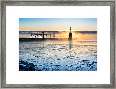 Frigid Sunrise Fog  Framed Print