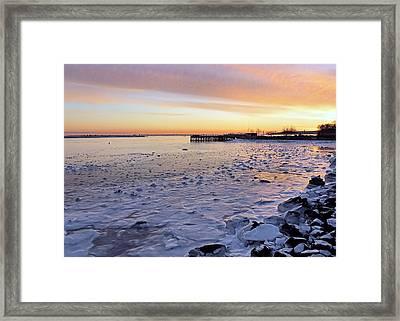 Frigid Sunrise Framed Print by Janice Drew