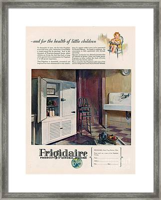 Frigidaire 1926 1920s Usa Cc Fridges Framed Print by The Advertising Archives