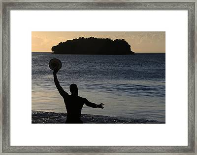 Framed Print featuring the photograph Frisbee Toss by Paul Miller