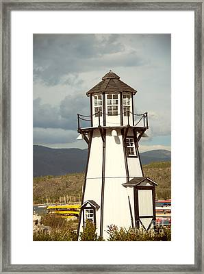 Frisco Bay Marina Lighthouse Framed Print by Juli Scalzi