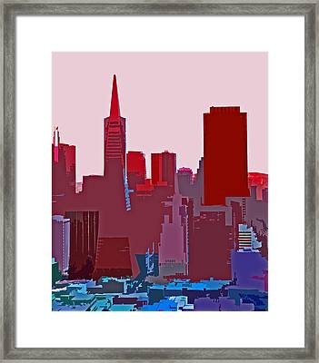 Frisco Skyline Framed Print