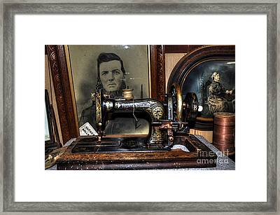 Frister And Rossmann - Old Sewing Machine Framed Print by Kaye Menner