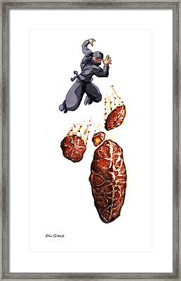Fritter Jitsu The Deadly Art Of Throwing Fruity Pastries Framed Print