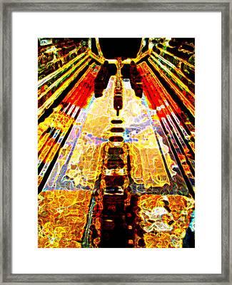 Fritz Lang's Metropolis Yet Stands Framed Print