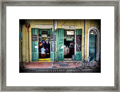 Fritzels Bar On Bourbon Street Framed Print by Ray Devlin