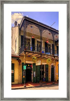 Fritzel's European Jazz Pub New Orleans Framed Print