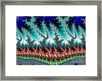 Frizzle Frazzle Fractal 1b Framed Print