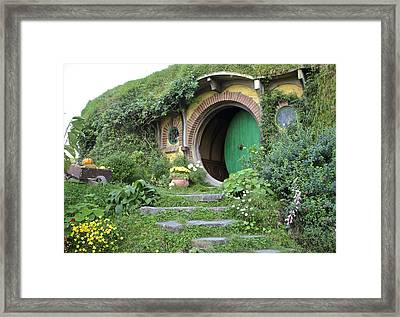 Frodo Baggins Lives Here Framed Print by Venetia Featherstone-Witty