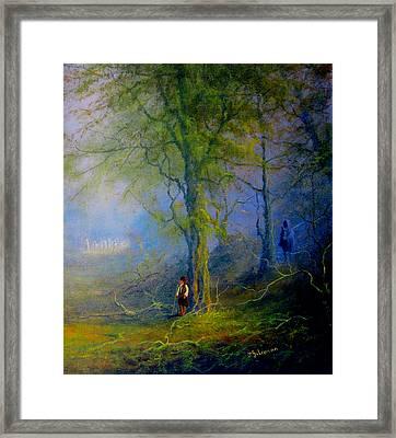 Frodo's Lucky Escape Framed Print by Joe  Gilronan