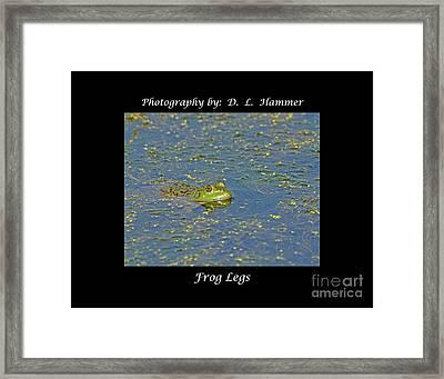 Frog Legs Framed Print by Dennis Hammer