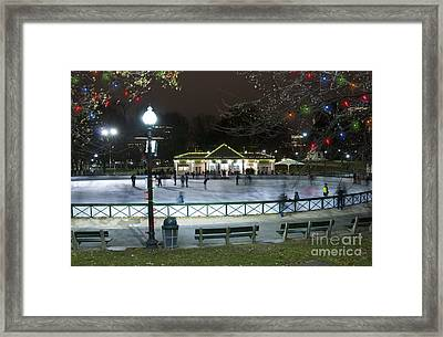 Frog Pond Ice Skating Rink In Boston Commons Framed Print by Juli Scalzi