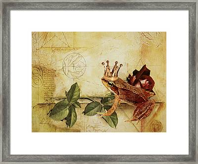 Frog Prince Framed Print by Heike Hultsch