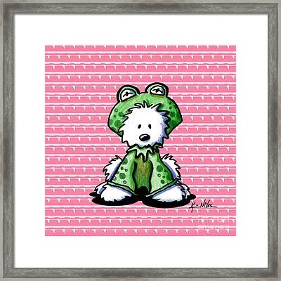 Frog Prince Westie Dog Framed Print