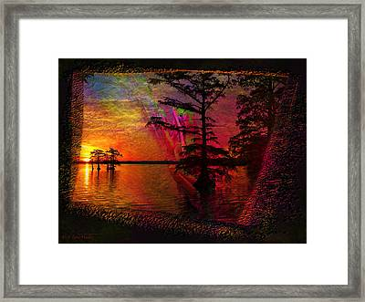 Froggy Morning Sunrise Framed Print