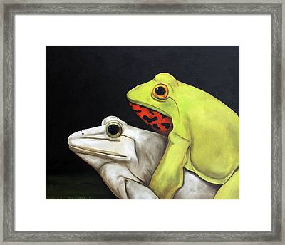 Froggy Style Edit 2 Framed Print by Leah Saulnier The Painting Maniac