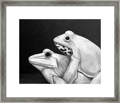 Froggy Style Edit 3 Framed Print by Leah Saulnier The Painting Maniac