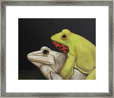 Froggy Style Framed Print by Leah Saulnier The Painting Maniac