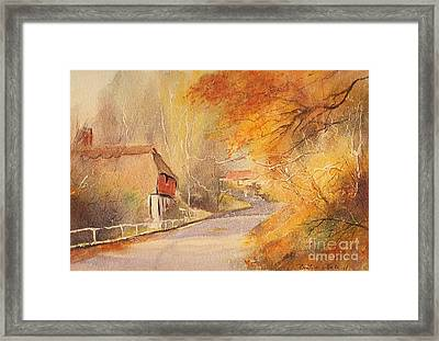 Framed Print featuring the painting Frogholt Kent by Beatrice Cloake