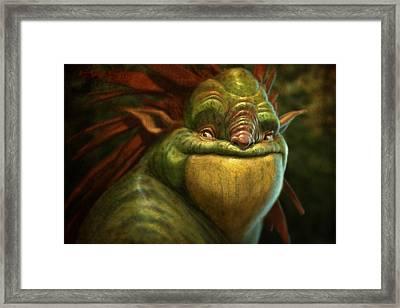 Frogman Framed Print