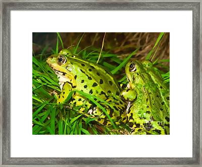 Frogs Decor Framed Print by Lutz Baar