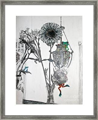 Frogs Hanging Everywhere Framed Print