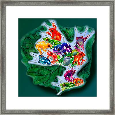 Frogs Framed Print by Sherry Shipley