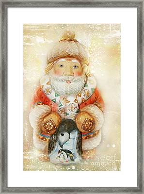 frohe Weihnachten Framed Print by Sharon Mau
