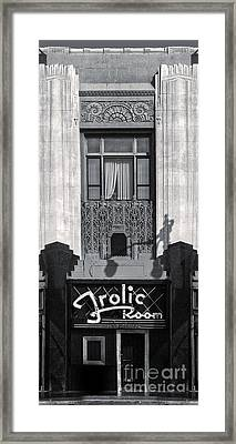 Frolic Room In Black And White Framed Print by Gregory Dyer
