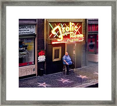 Frolic Room.hollywood Blvd Framed Print by Jennie Breeze