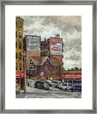 From 230th Street The Bronx Oil On Panel Framed Print