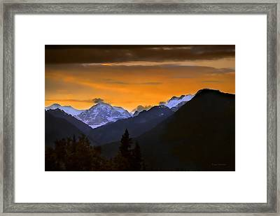 Framed Print featuring the photograph From A Distance by Dyle   Warren