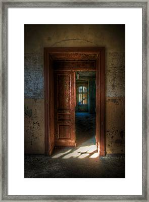 From A Door To A Window Framed Print by Nathan Wright