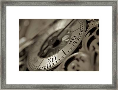 From A Grandfather Clock Framed Print by Alex King