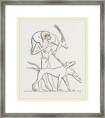 From An Egyptian Painting Framed Print by Litz Collection