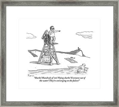 From Atop His Chair Framed Print
