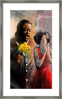 From Barry White With Love Framed Print by Miki De Goodaboom