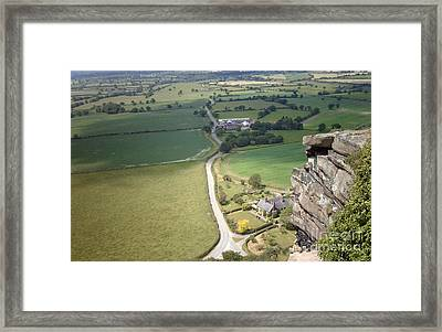 From Beeston Castle Cheshire England Framed Print