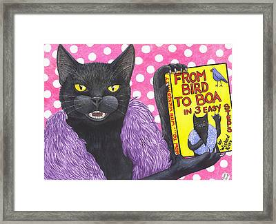 From Bird To Boa Framed Print by Catherine G McElroy