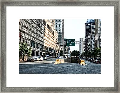 From Boston To New York Framed Print