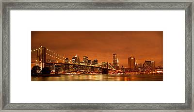 From Brooklyn To Manhattan Framed Print by Andreas Freund